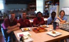 From left to right, Nathan, Antonio, Mitzi, Corrine and Shannon enjoy one of Donna's delicious breakfasts!