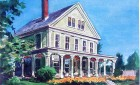 This is a painting of the Captain Freeman Inn by local artist Karen North Wells