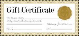 Order Gift Certificate online