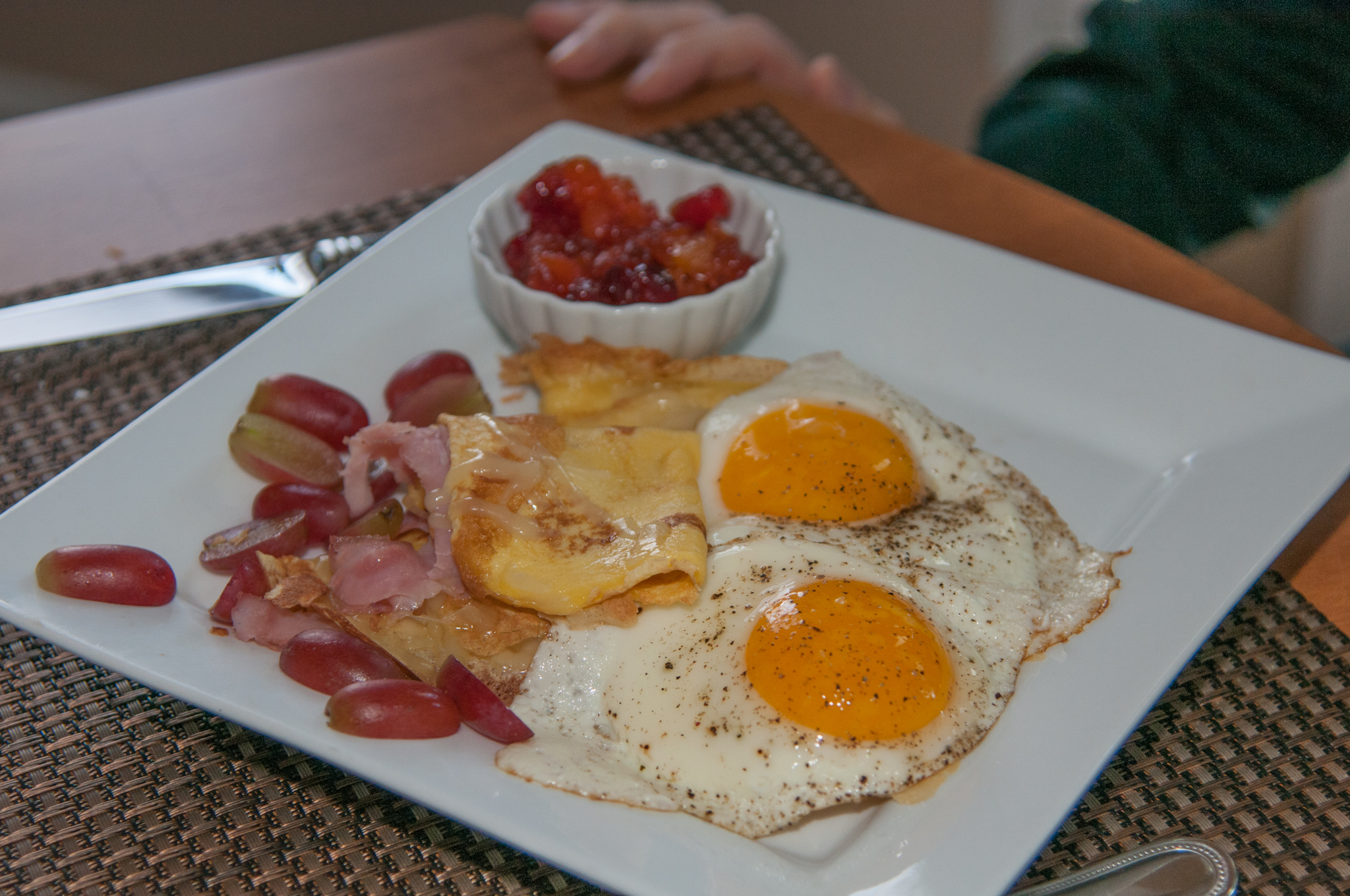 Buckwheat Crepes with Sunny Side Eggs