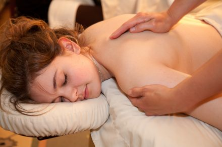 Relaxing massage at the Freeman