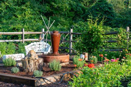 Fountain in the inn's garden