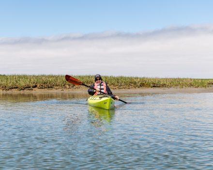 Donna kayaking on Nauset marsh