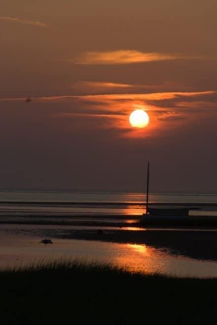 Sunset on Cape Cod bay