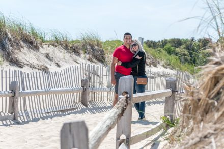 Wedding couple at the beach