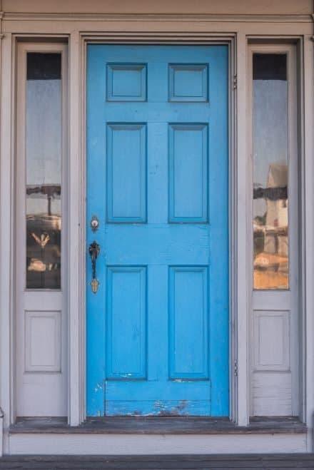 Blue door in Wellfleet