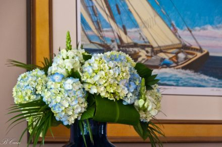 Hydrangea bouquet in the parlor
