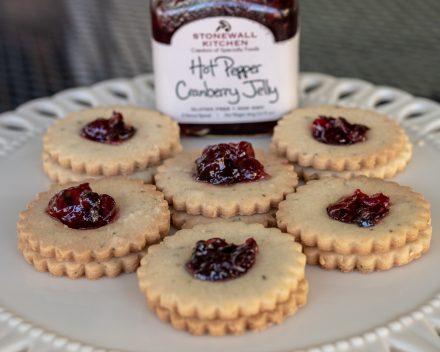 Rosemary Shortbread Linzer Cookies