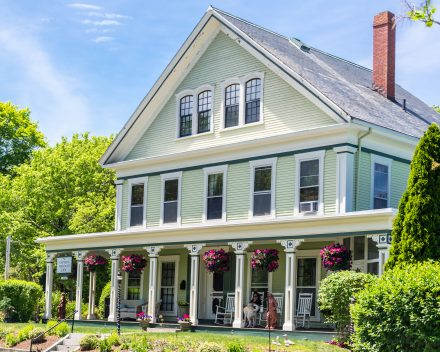 the front of our Cape Cod Bed and Breakfast, the Captain Freeman Inn