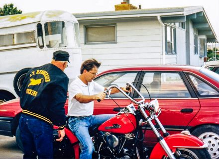 Byron on his Dad's Harley