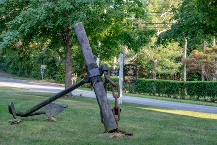 Historic ship's anchor at the Brewster Historical Society