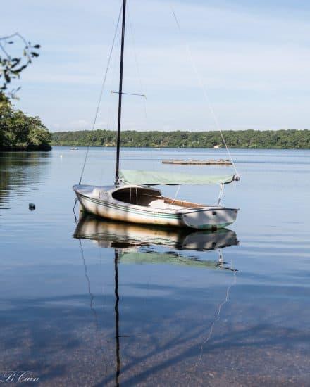 Sail boat on Upper Mill Pond