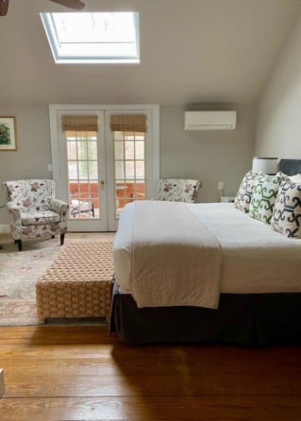 Provincetown view of bed and sitting area